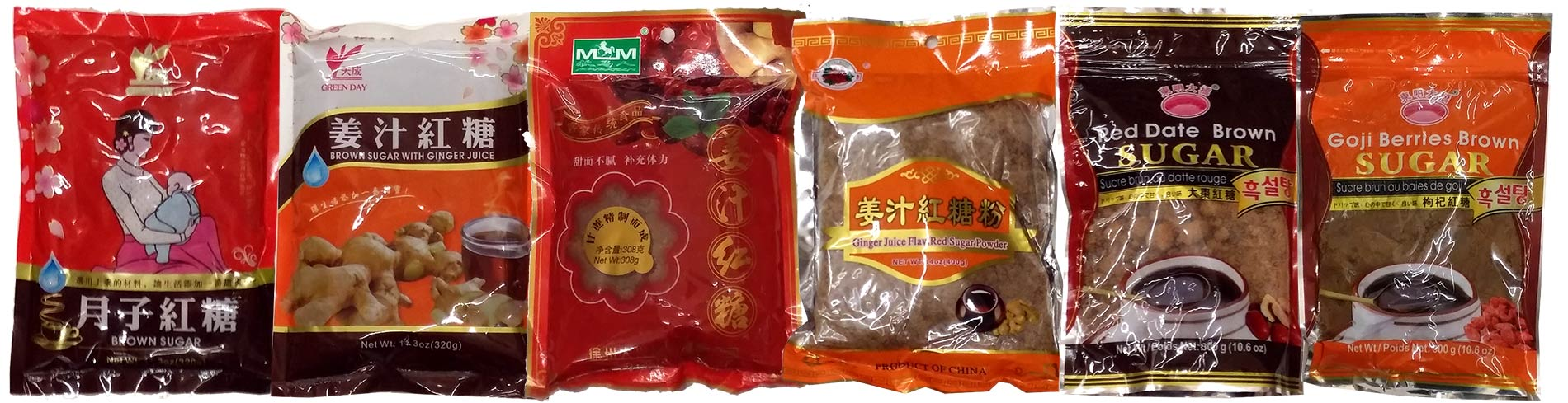 Chinese Herbal Brown Sugars in US Supermarkets