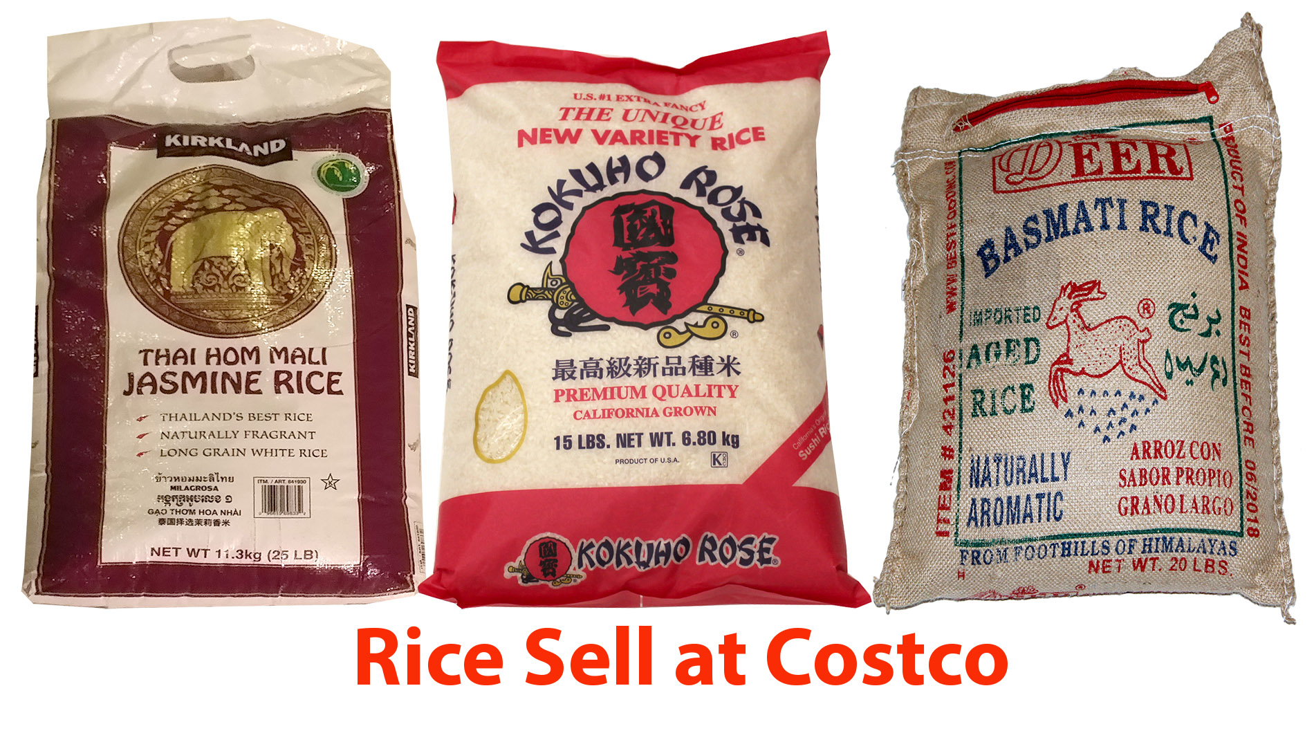 White Asian Rices in Costco