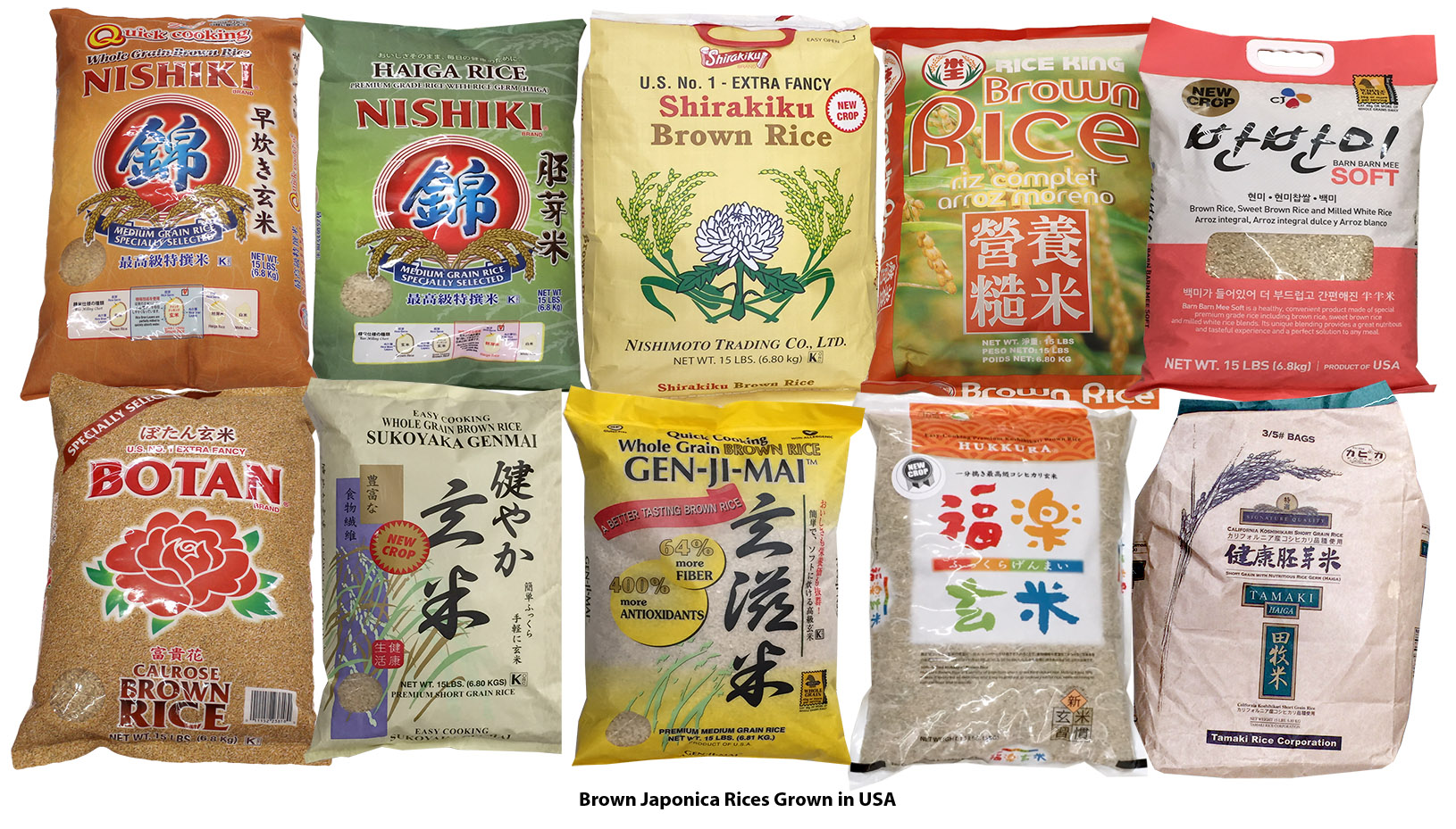 Brown Rices in US Supernarkets