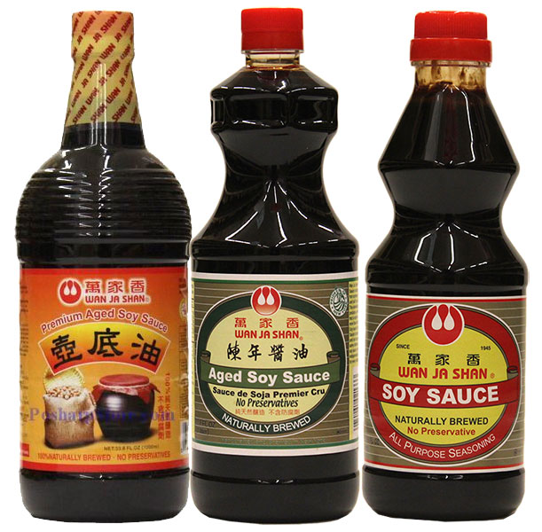 Wan Ja Shan Soy Sauces Recommended